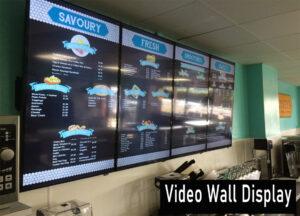 4 Display Video Wall Menu Display