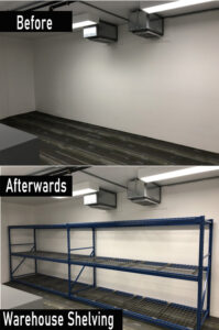 Before & Afterwards Shelving