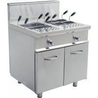 Chefs tasked with cooking large batches of pasta often turn to one key piece of foodservice equipment: the Pasta Cooker, This unit, is used in many high volume kitchens so saves time and space.