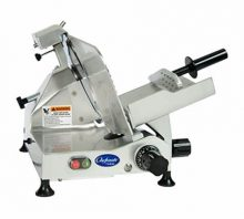 "Commercial Meat/ Cheese Slicer is an essential Butcher's appliance for straight, paper-thin slices of meat, cheese, or even vegetables. Ranging from 9"" to 13"" with non-serrated blades"