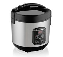 Hamilton Beach Rice & Hot Cereal Cooker, 10-Cups uncooked resulting in 20-Cups