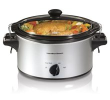 Hamilton Beach Stay or Go 4 Quart Slow Cooker. The no-spill, traveling slow cooker. Whether it's barbecue meatballs for a potluck or a pot roast for a dinner.