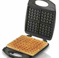 Hamilton Beach 4-Slice Non-Stick Belgian Waffle Maker with Indicator Lights, Compact Design