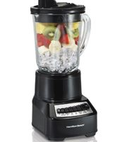 Hamilton Beach Wave Crusher Blender with 40oz Glass Jar and 14 Functions for Puree, Ice Crush, Shakes and Smoothies, Stainless Steel